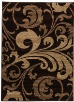 Well Woven Contemporary Ruby Leslie Fleur De Lis Brown Area Rug Collection