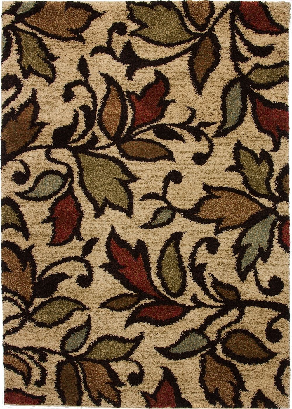 well woven avenue lovely leaves contemporary area rug collection
