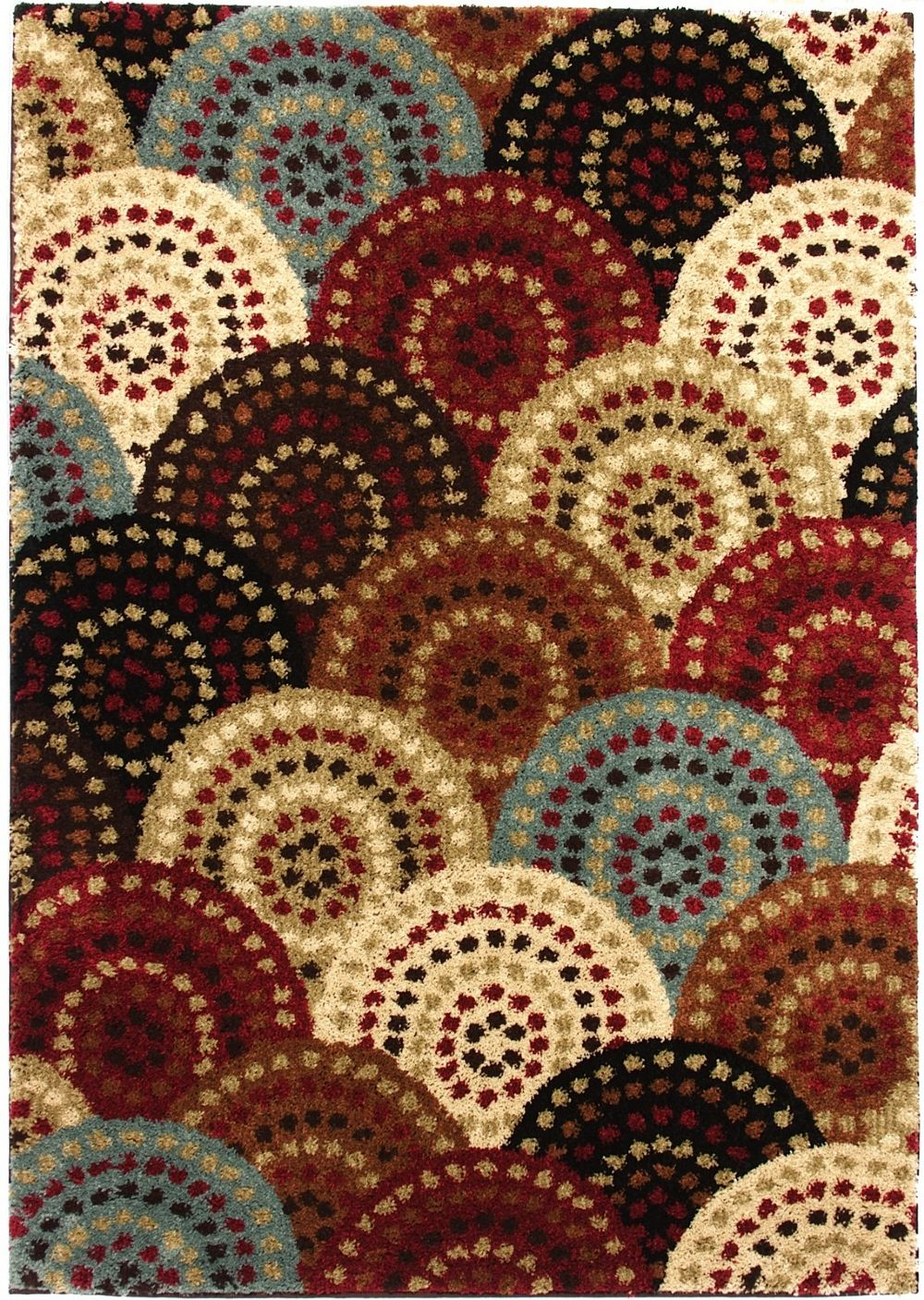 well woven avenue circles and circles contemporary area rug collection