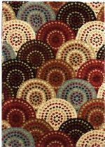 Well Woven Contemporary Avenue Circles And Circles Area Rug Collection