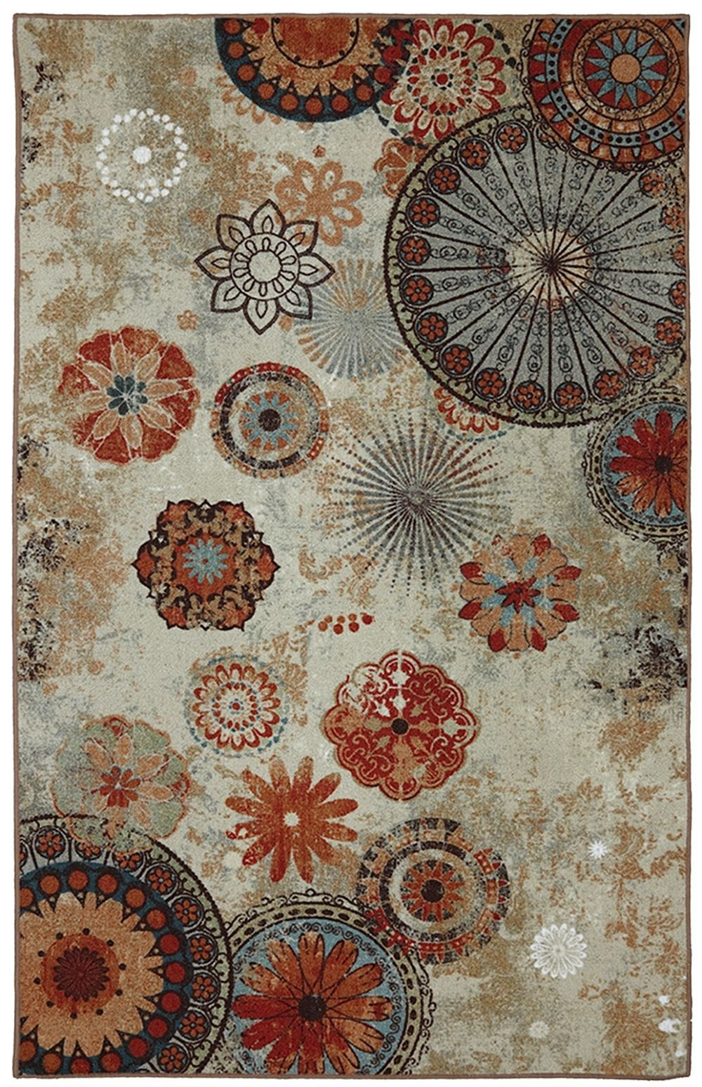 mohawk alexa medallion contemporary area rug collection