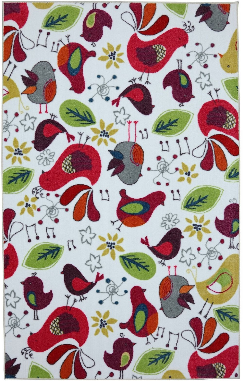 mohawk kids birds contemporary area rug collection