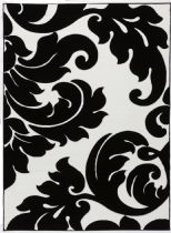 Well Woven Contemporary Melody Vines Damask Area Rug Collection