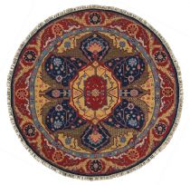 Round rug, Hand Knotted rug, Southewestern/Lodge, Nourmak, Nourison rug