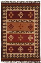 Rectangle Rug, Flat Weave Rug, Southwestern/Lodge, Hacienda, St Croix Trading Rug