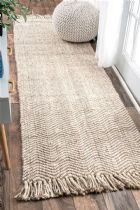 NuLoom Braided Don Jute with fringe Area Rug Collection