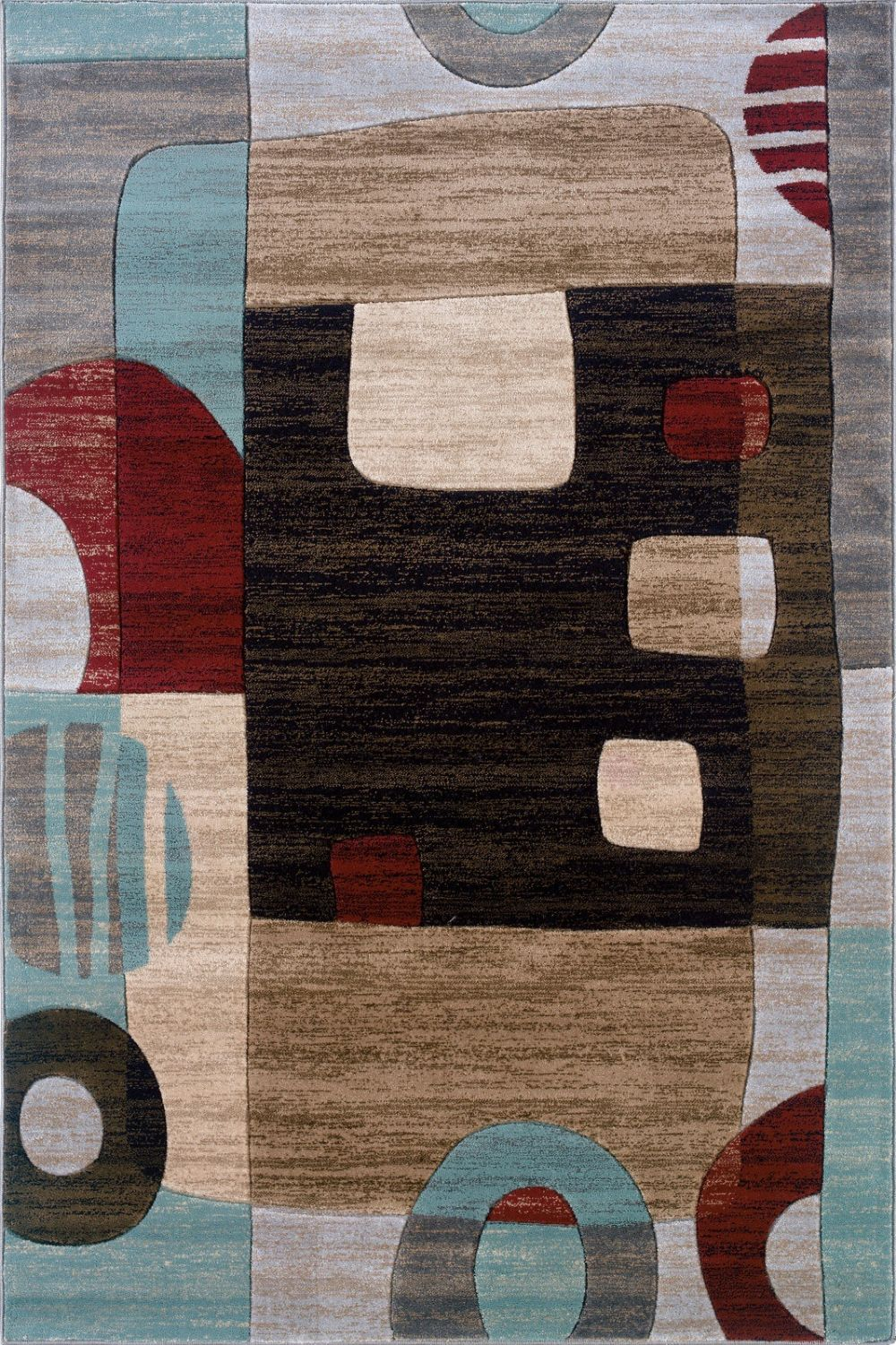 linon milan contemporary area rug collection