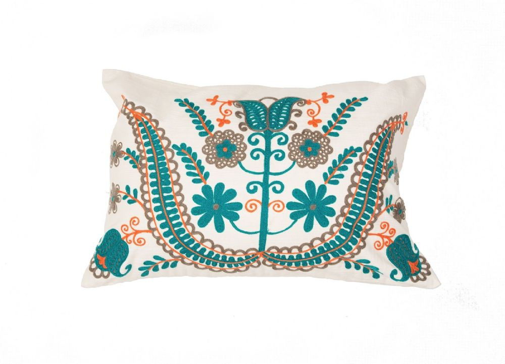 Modern Country Pillows : Jaipur Traditions Made Modern Country Floral Decorative Pillow Collection - RugPal.com - pil ...