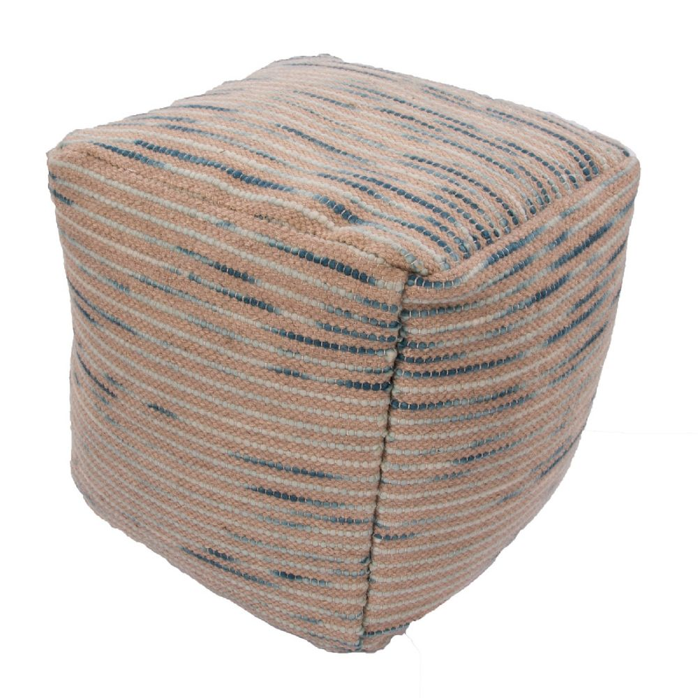 jaipur alma contemporary pouf/ottoman collection