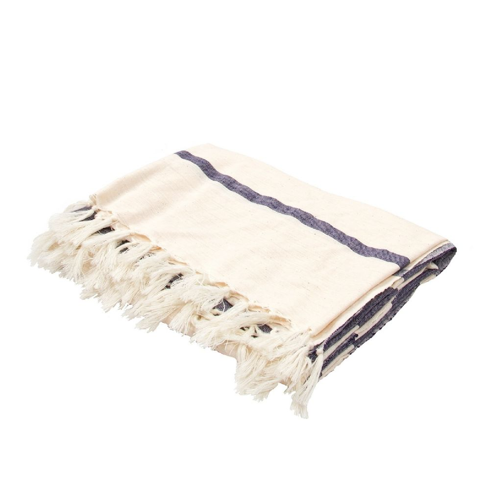 jaipur essential solid/striped throw collection