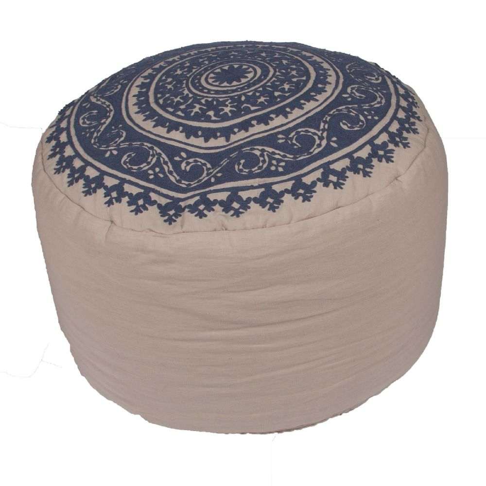 jaipur inspired contemporary pouf/ottoman collection