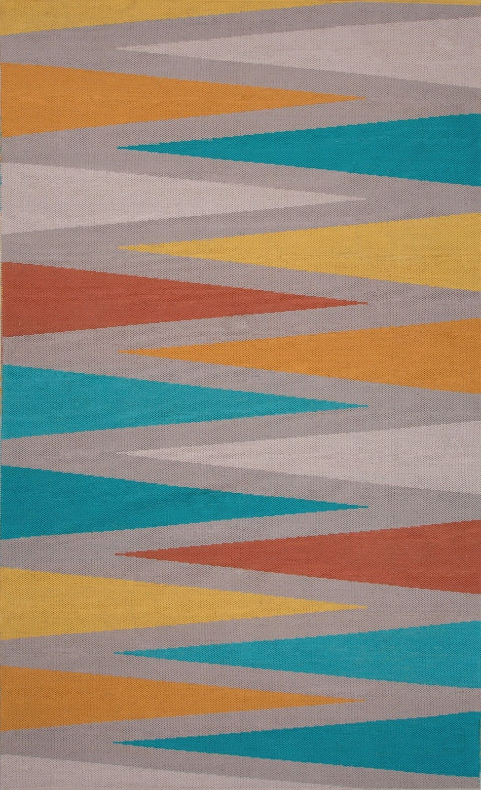 jaipur traditions made modern cotton flat weave solid/striped area rug collection