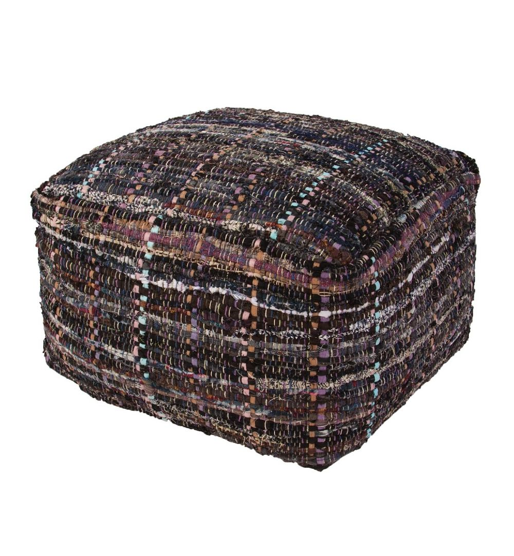 jaipur milford contemporary pouf/ottoman collection