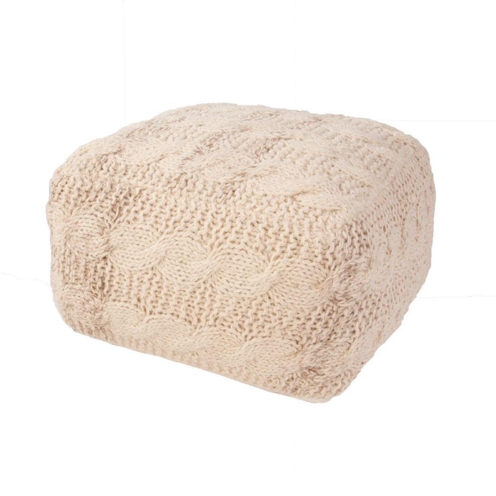 jaipur milford solid/striped pouf/ottoman collection