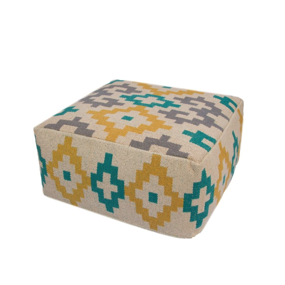 jaipur traditions made modern contemporary pouf/ottoman collection