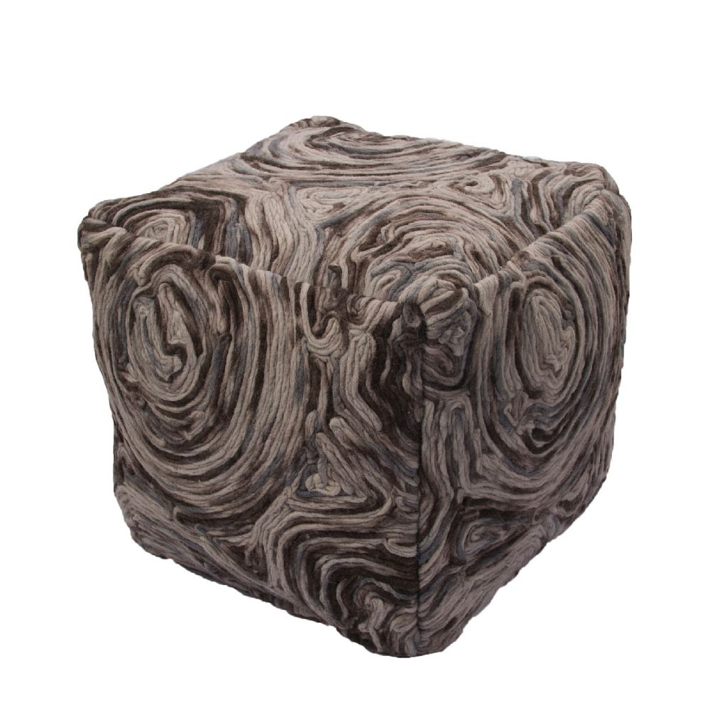 jaipur national geographic home contemporary pouf/ottoman collection