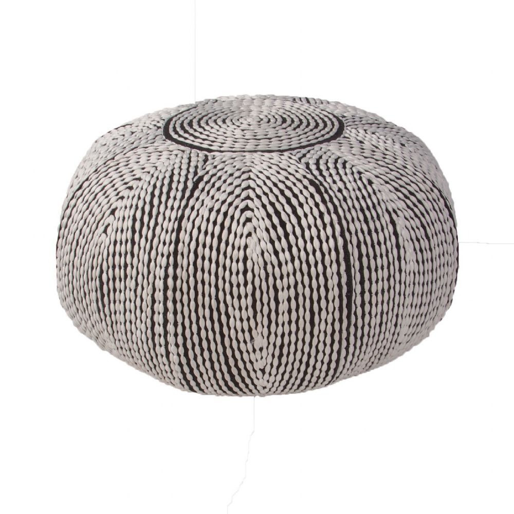 jaipur pasco solid/striped pouf/ottoman collection