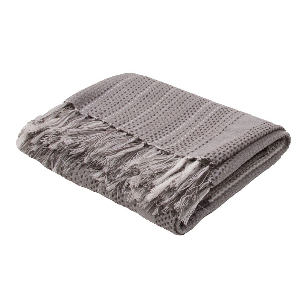 jaipur posy solid/striped throw collection