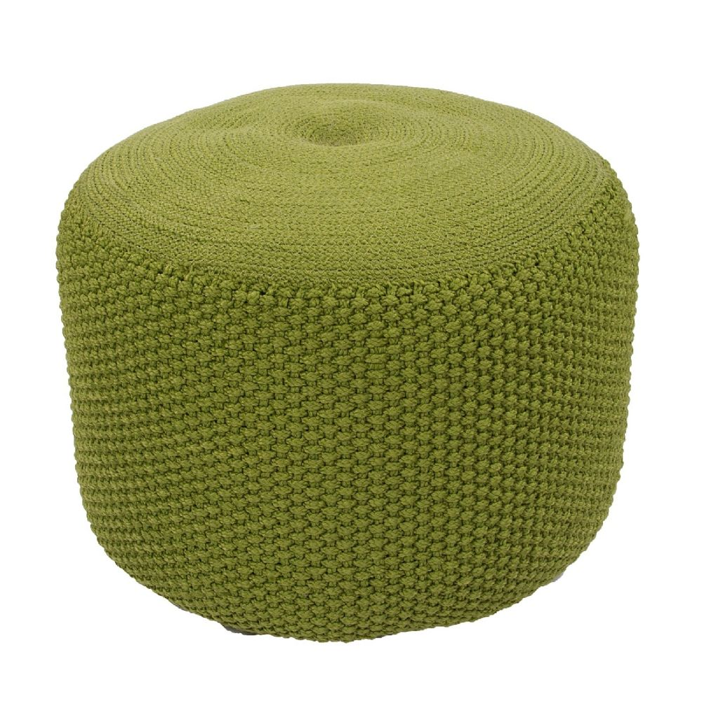 jaipur rustic solid/striped pouf/ottoman collection