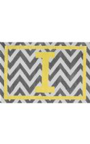 NuLoom Indoor/Outdoor Monogrammed Chevron Letter Area Rug Collection