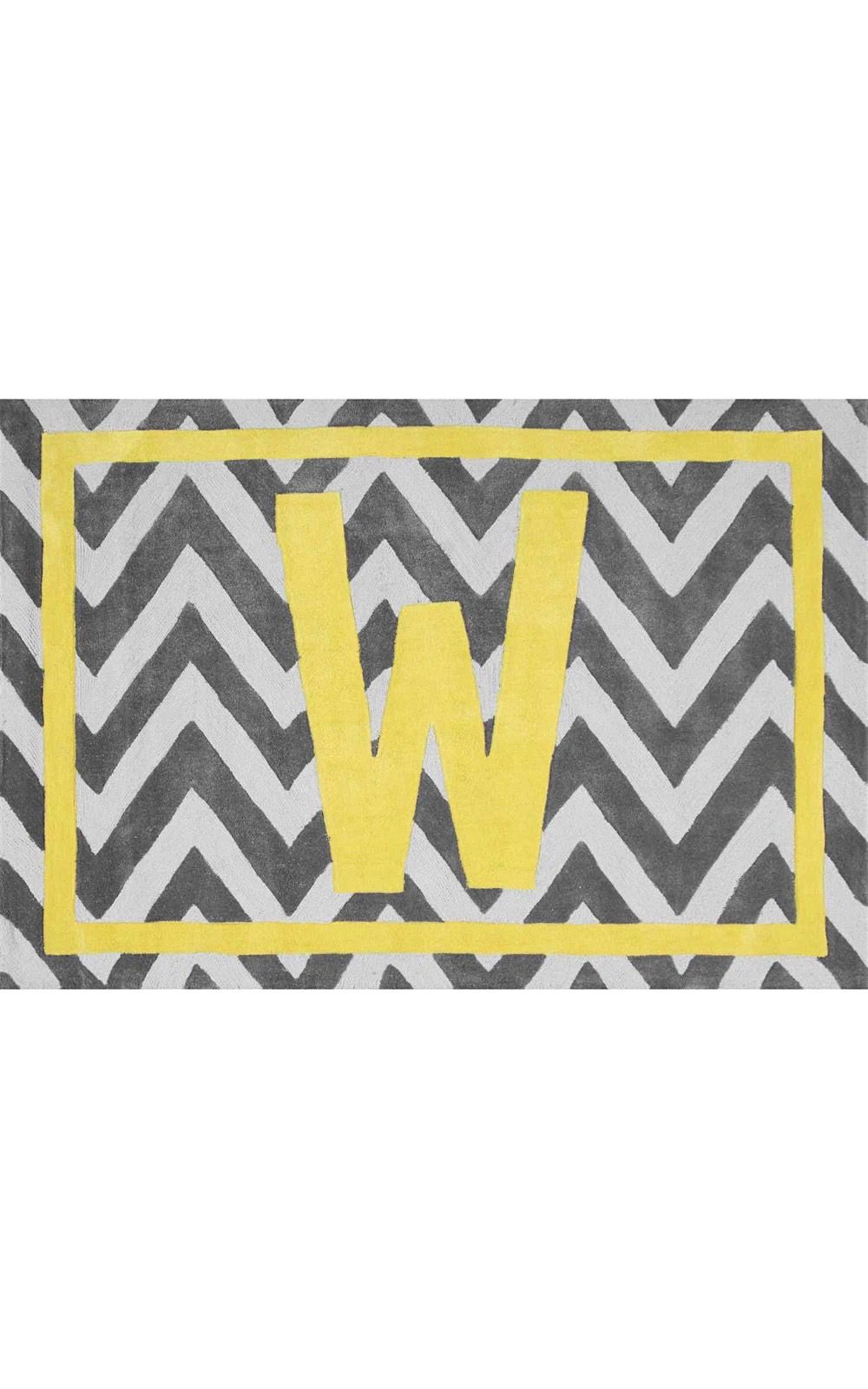 nuloom monogrammed chevron letter indoor/outdoor area rug collection