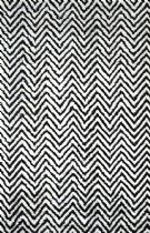 NuLoom Contemporary Luxurious Viscose Chevron Kelli Area Rug Collection