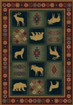 Rectangle Area Rug, Machine Made Rug, Southwestern/Lodge, Genesis, United Weavers Rug