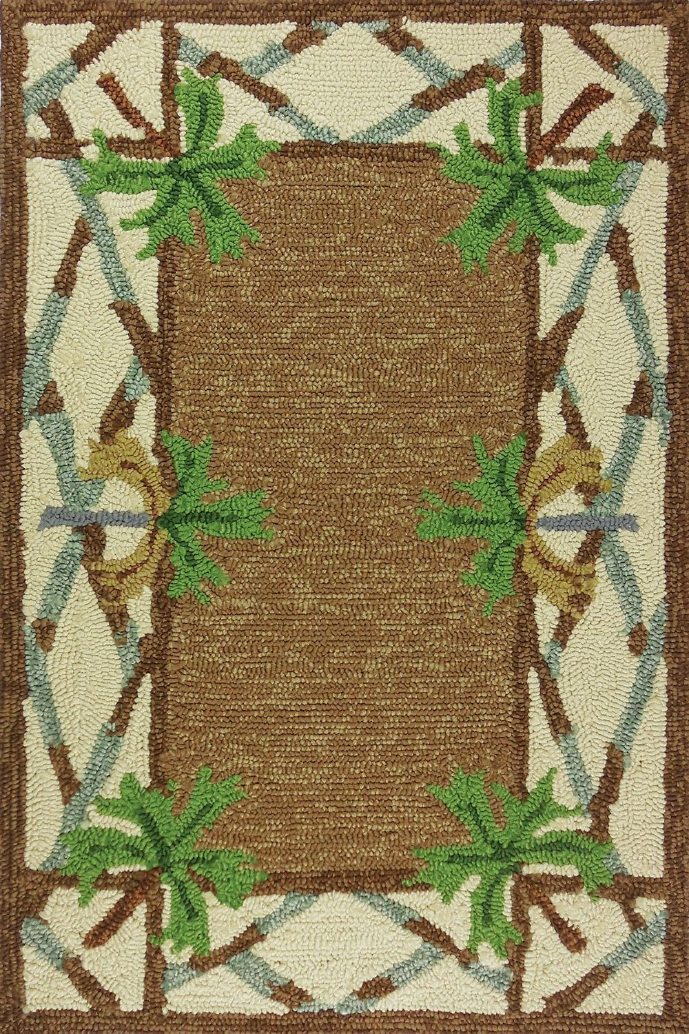 homefires swaying palms contemporary area rug collection