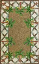 Homefires Contemporary Swaying Palms Area Rug Collection