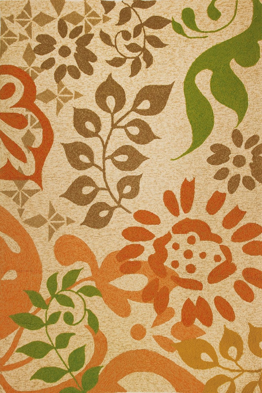 homefires global fusion country & floral area rug collection