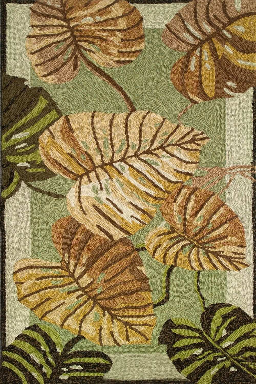 homefires philodendron country & floral area rug collection