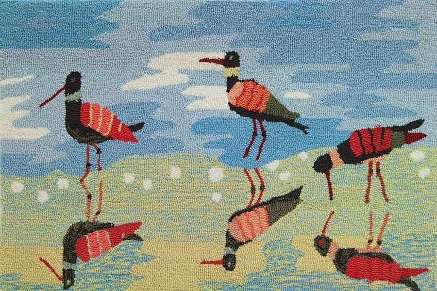 homefires reflective sandpipers contemporary area rug collection