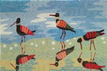Homefires Contemporary Reflective Sandpipers Area Rug Collection