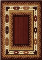 Rectangle rug, Machine Made rug, Southwestern/Lodge, Anthology Durango Brown Red, Orian rug