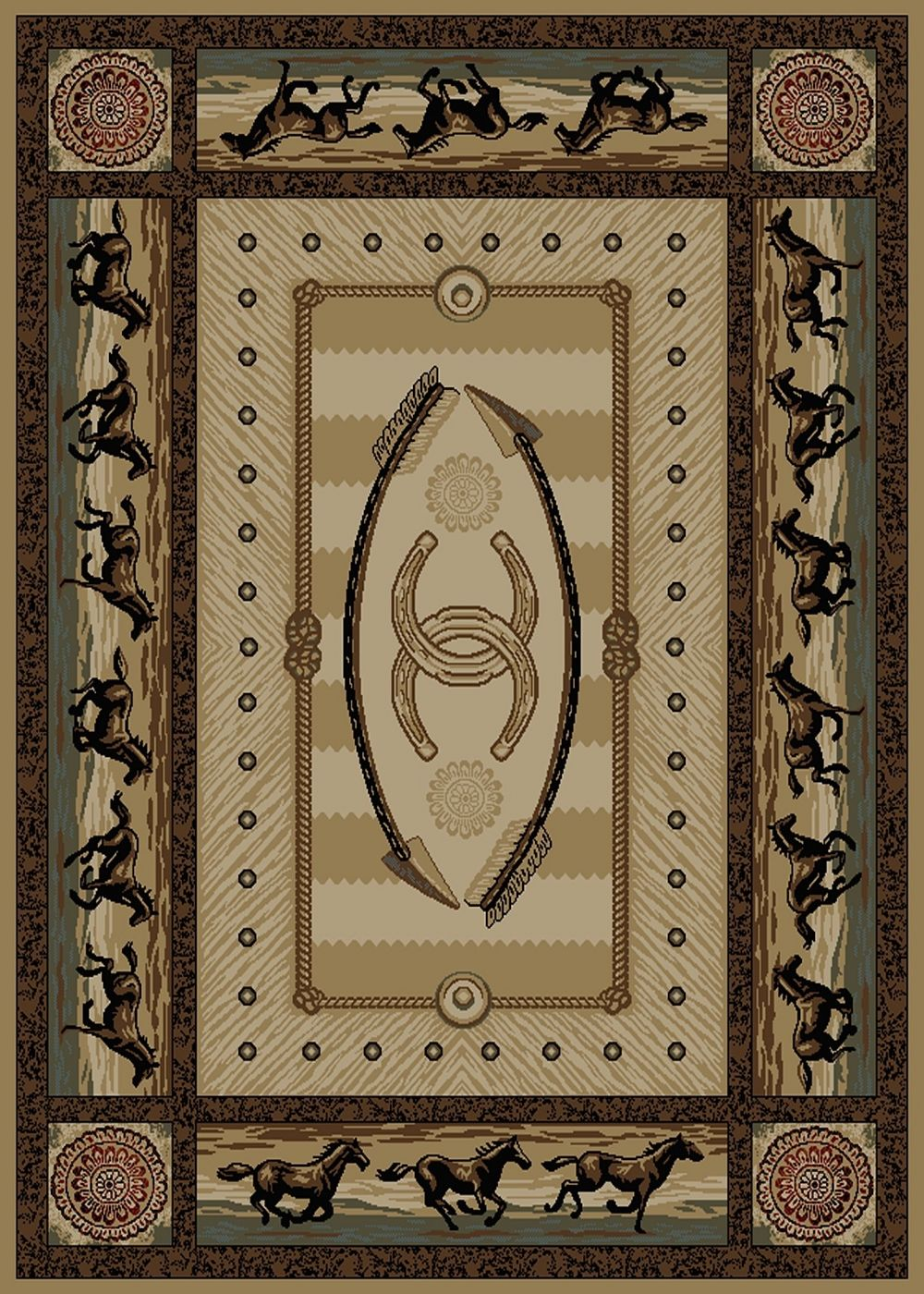 mayberry american destination southwestern/lodge area rug collection
