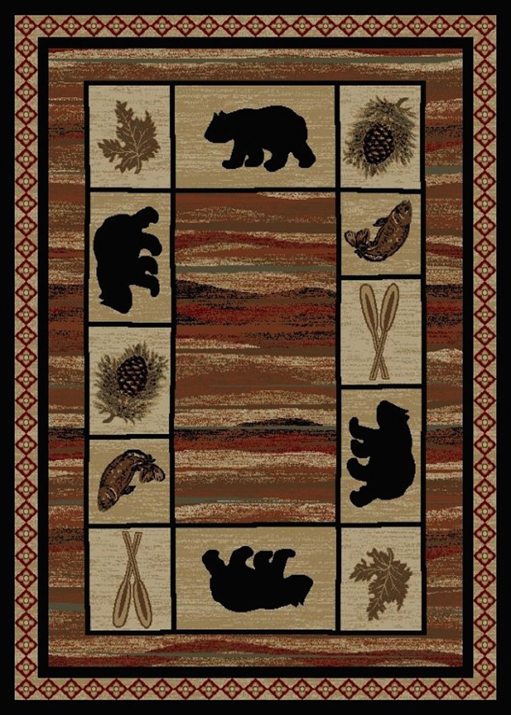 mayberry hearthside southwestern/lodge area rug collection