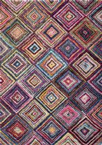 NuLoom Natural Fiber Jenise Squares Area Rug Collection