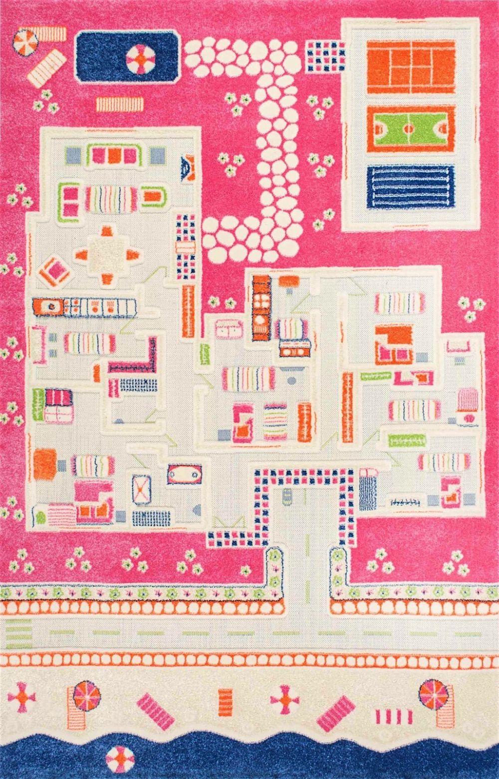 nuloom summertime playhouse kids area rug collection