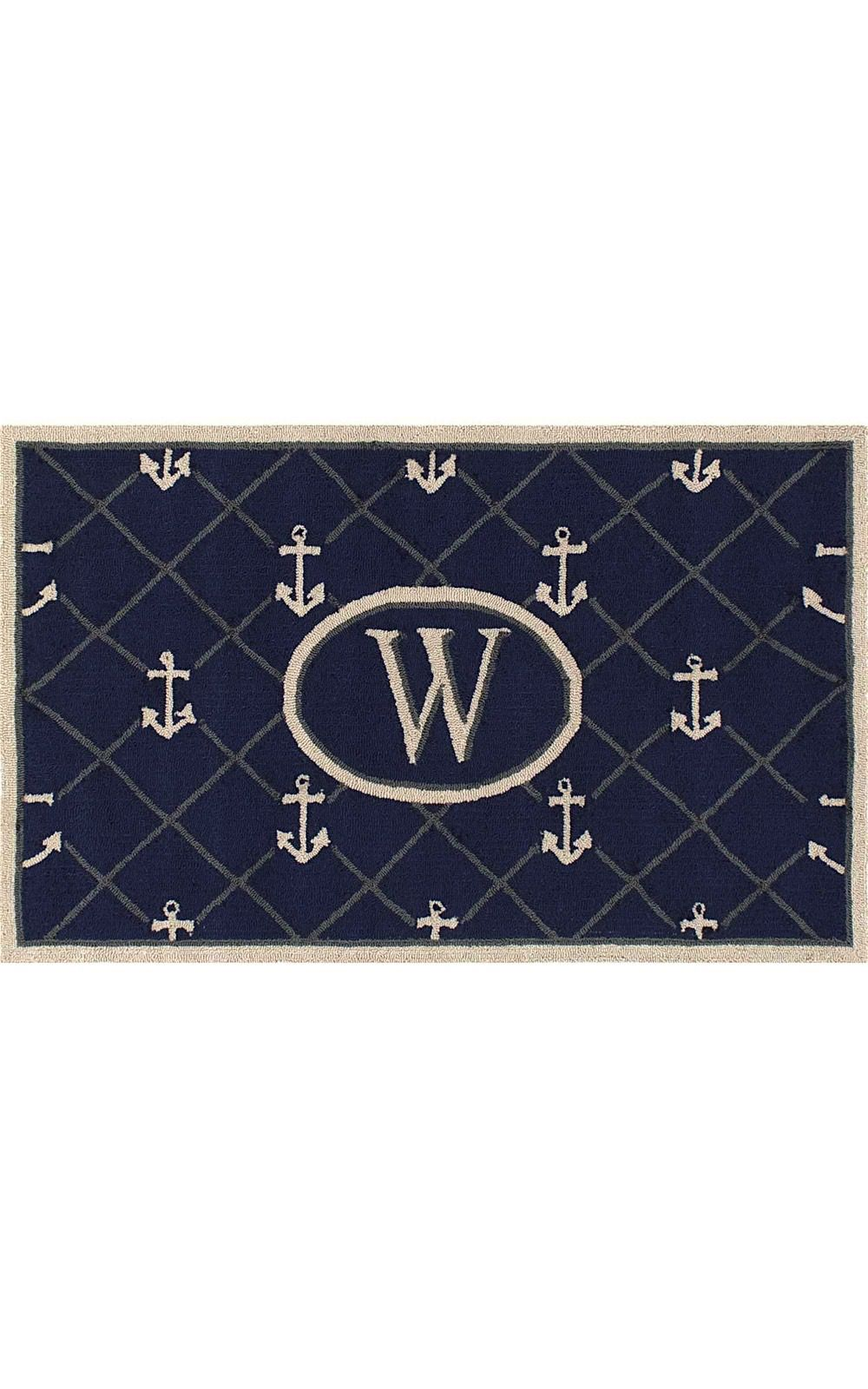 nuloom monogrammed anchor indoor/outdoor area rug collection
