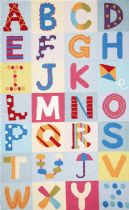 NuLoom Kids Alphabet Boxes Area Rug Collection