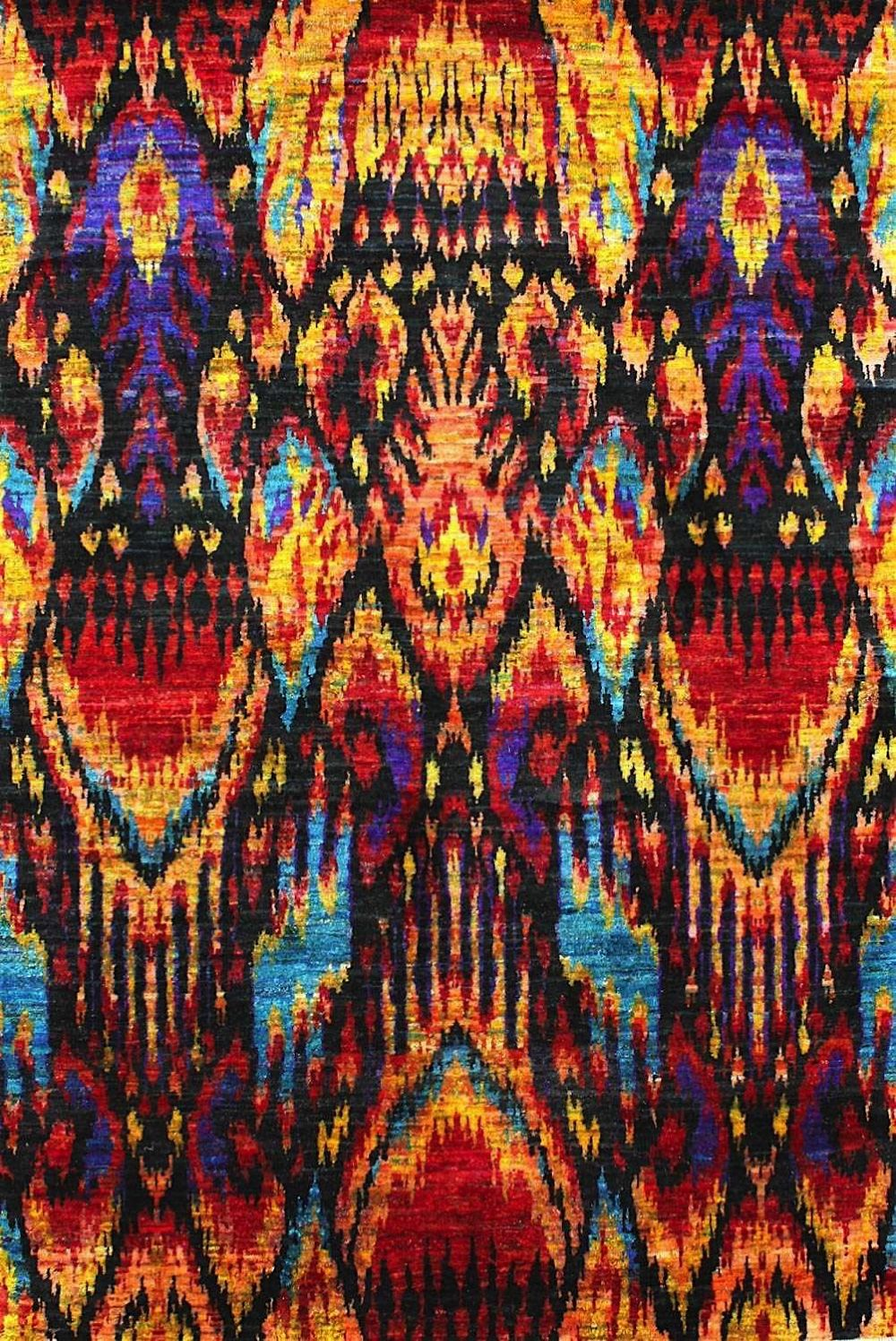 nuloom niko silk ikat contemporary area rug collection