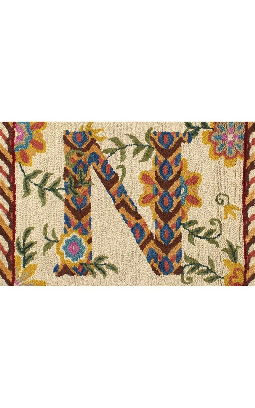 nuloom monogrammed indoor/outdoor area rug collection