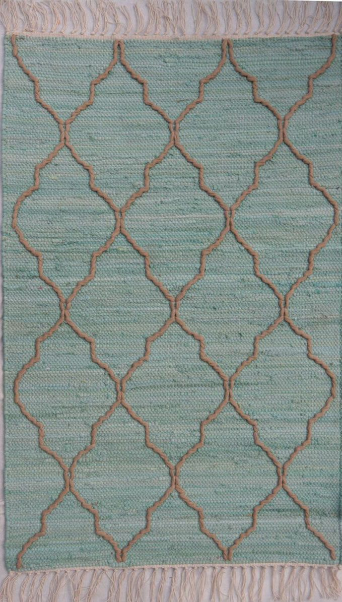 homespice decor trellis aquamarine braided area rug collection