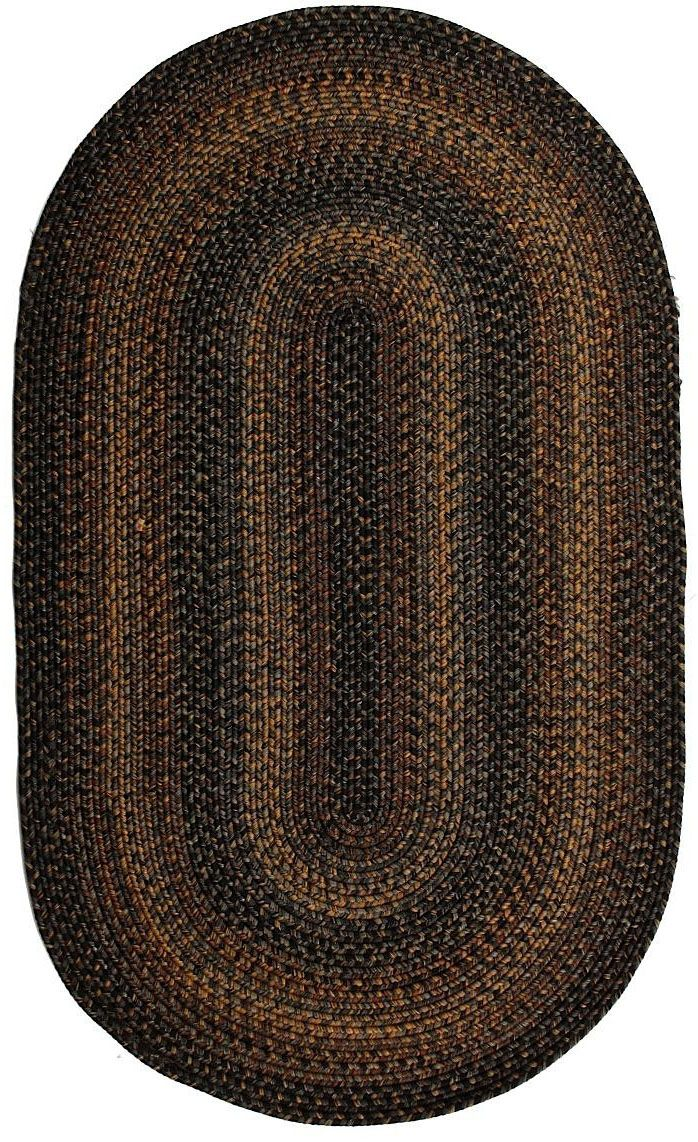 homespice decor black forest braided area rug collection