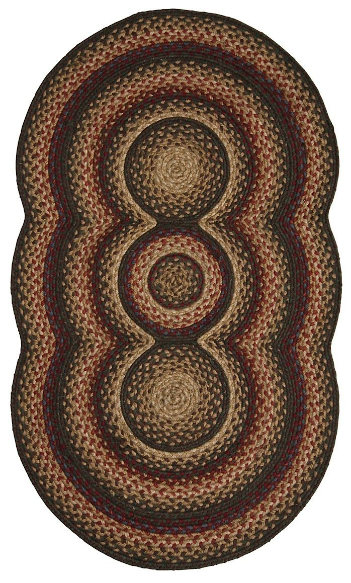 homespice decor trio comfort braided area rug collection