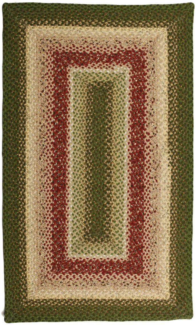 homespice decor english garden braided area rug collection