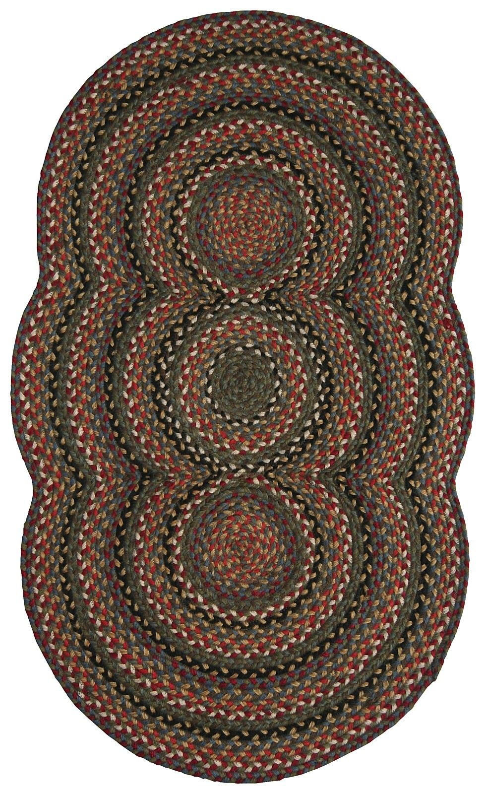 homespice decor trio grace braided area rug collection