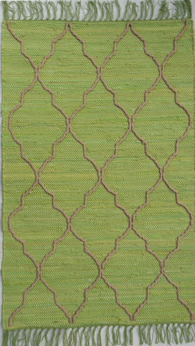 homespice decor trellis lime braided area rug collection