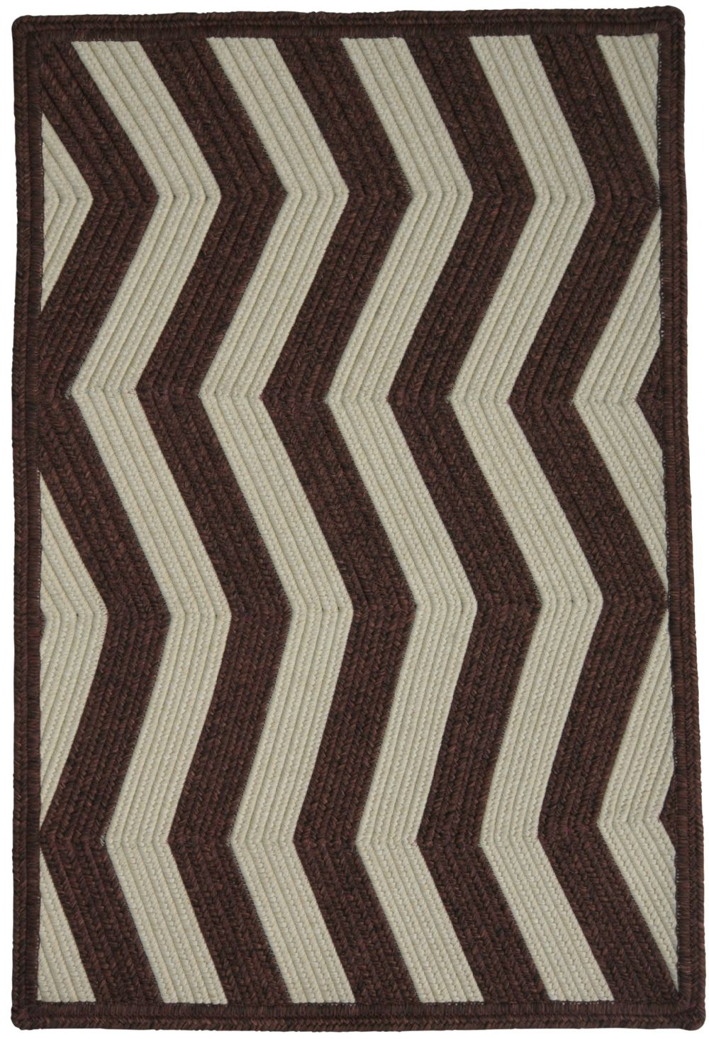 homespice decor mahogany ivory braided area rug collection