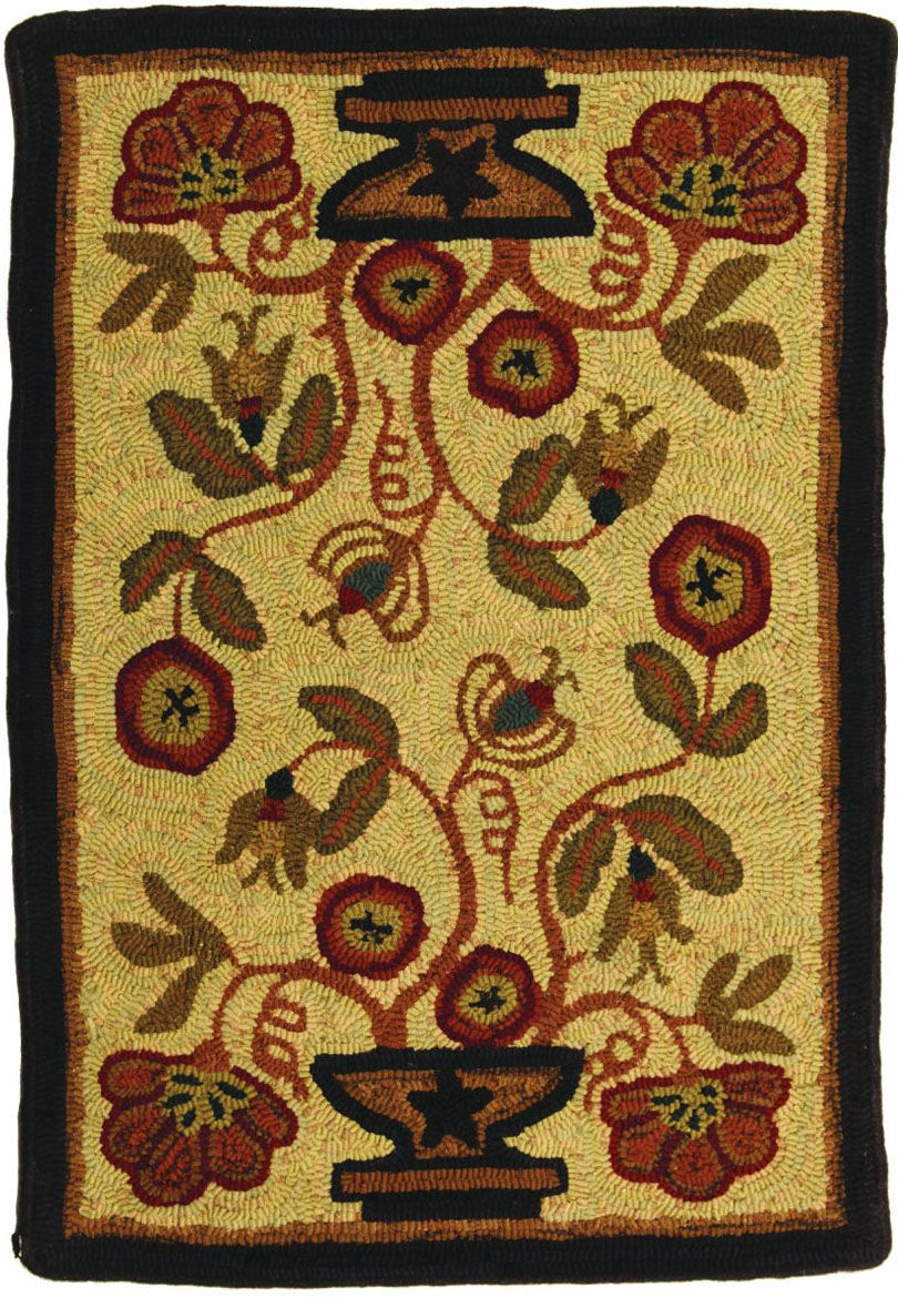 homespice decor potted flower braided area rug collection